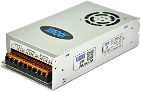 XINCOL 12V 20A 240W Transformador de Potencia, Transformador de Voltaje, Fuente de Alimentación para la Tira de LED