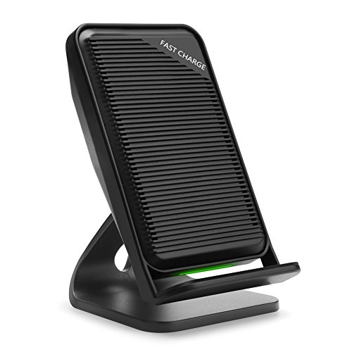 Baseus 10W Wireless Charging Stand with Built-in Cooling Fan, Qi Wireless Charger Station for iPhone X/8/8 Plus, Samsung Galaxy S8/S8 Plus/S7/Note 8 (AC Adapter Not Included) … (Built In Cooling Fan)