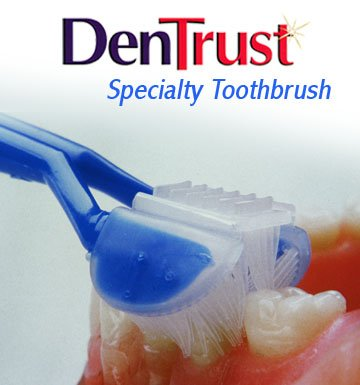 DenTrust 3-Sided Toothbrush :: Specialty Toothbrush for AUTISM & Special Needs :: Autistic ASD :: Made In USA