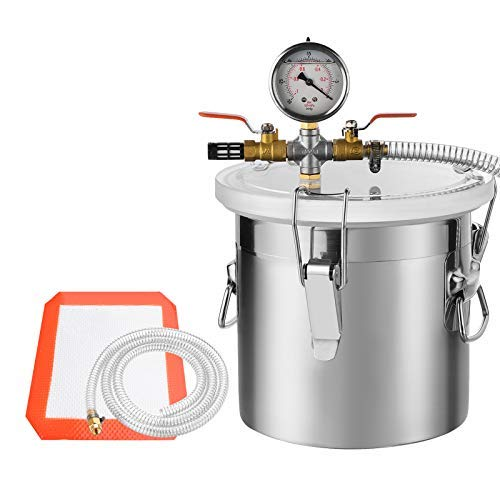 SUNCOO Stainless Steel Vacuum Chamber for Degassing Urethanes, Resins, Silicones and Epoxies, 3 Gallon