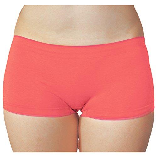 KMystic Seamless Hot Shorts Boy Short One Size (Coral) - Hot Shorts Underwear