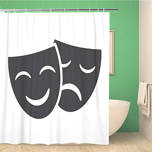 Greek Theatre Comedy Costumes - Awowee Bathroom Shower Curtain Theatre Theater