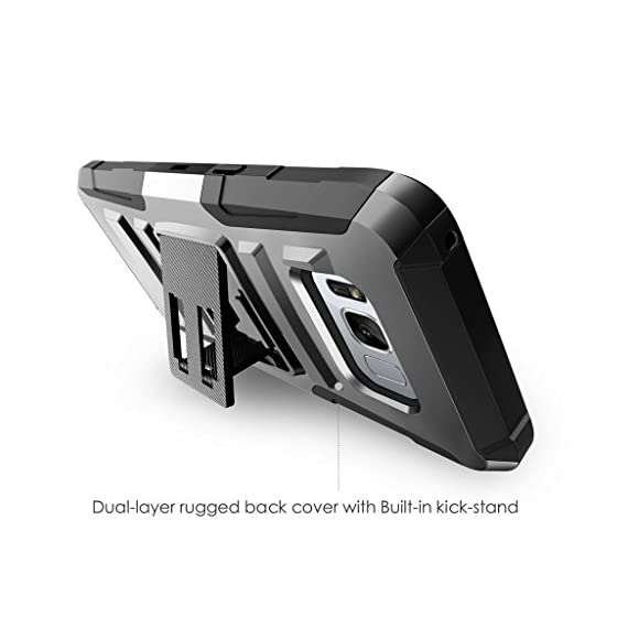 TurtleArmor | Compatible with Samsung Galaxy S8+ Case | S8 Plus Case | G955 [Hyper Shock] Hybrid Dual Layer Armor Holster Belt Clip Case Kickstand - Bat Signal 3 Dual Layer Protection - Soft inner silicone skin and hard outer polycarbonate PC plastic for the ultimate protection Kickstand - Built-in stand allows for hands-free media viewing in landscape or portrait mode Hundreds of Designs to Choose From - Offers a variety of unique, cool, and custom designs.