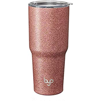 bacc77089eb3 BUILT 5237748 Vacuum Insulated Tumbler Double Wall 30-Ounce Rose Gold  Glitter