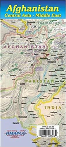Map Of Just Asia.Afghanistan Central Asia Middle East Jimapco Inc 9781569140086