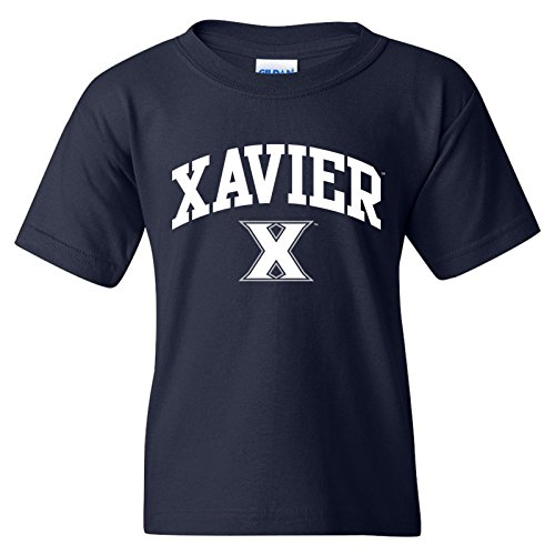 UGP Campus Apparel YS03 - Xavier Musketeers Arch Logo Youth T-Shirt - X-Large - Navy