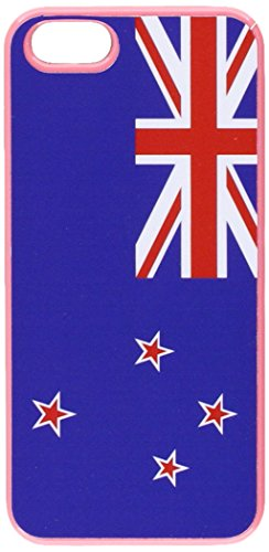 Graphics and More New Zealand Flag Snap-On Hard Protective Case for iPhone 5/5s - Non-Retail Packaging - Pink