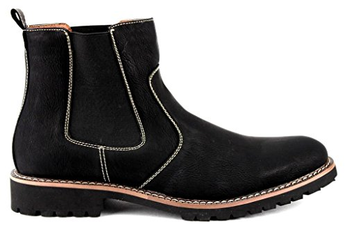 Ferro 506020 Dress Toe Casual Round Ankle Boots Aldo Mens Chelsea High Black pTrwZpq