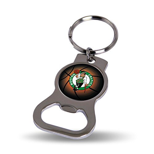 Boston Celtics Official NBA 3 inch Bottle Opener Key Chain Keychain by Rico Industries (Boston Celtics Keychain)