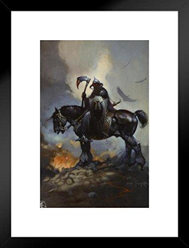 (Poster Foundry Death Dealer by Frank Frazetta Art Print Matted Framed Wall Art 20x26 inch)