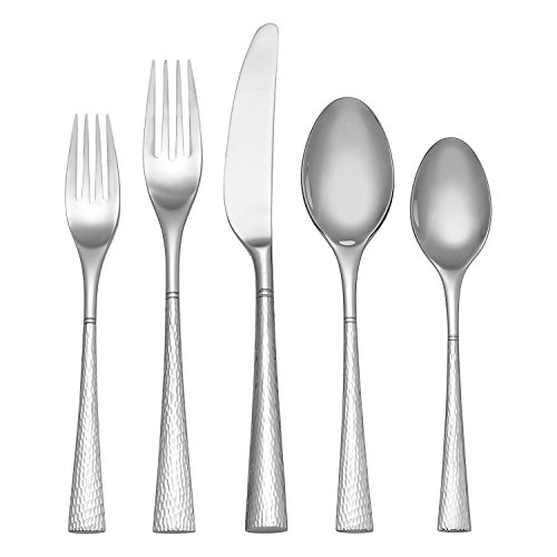 - Reed & Barton Hollis 45 PC Flatware Set Service for 8 Stainless 18/10 Hammered Finish