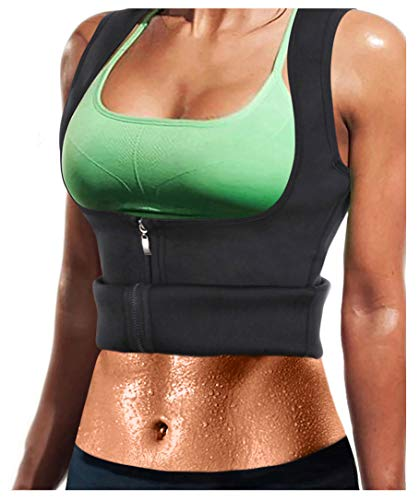 LODAY Women Neoprene Sauna Sweat Waist Trainer Vest with Zipper for Weight Loss Gym Workout Body...