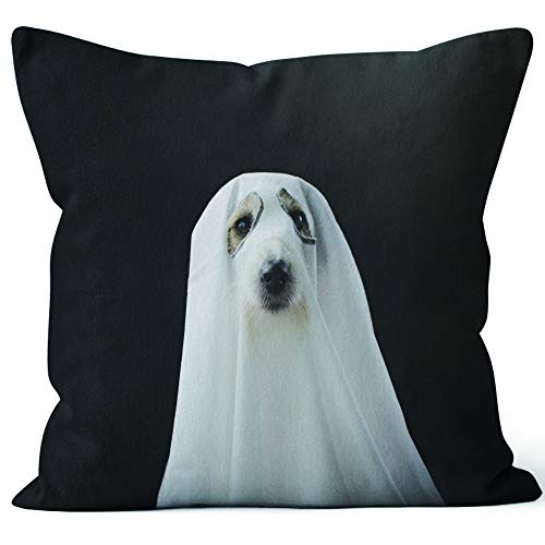 Nine City Dog Halloween Ghost Costume Party Home Decorative Throw Pillow Cover,HD Printing Square Pillow case,24