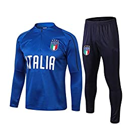 Complets Jersey Soccer Masculin, Sweat-Shirt Équipe Nationale De Football Italie, Blue Army Manches Longues Survêtements, Chemises De Formation des Adultes De Football Vêtements De Sport