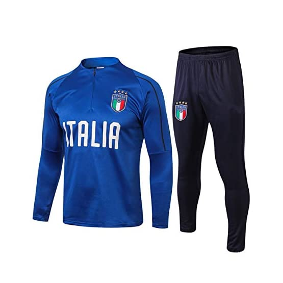 Complets Jersey Soccer Masculin, Sweat-Shirt Équipe Nationale De Football Italie, Blue Army Manches Longues Survêtements, Chemises De Formation des Adultes De Football Vêtements De Sport