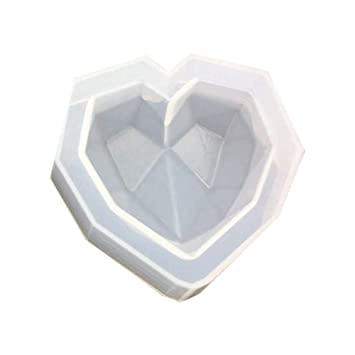Simplicidad Moderna Moldes de Silicona en 3D - Molde en Forma de corazón con geometría de