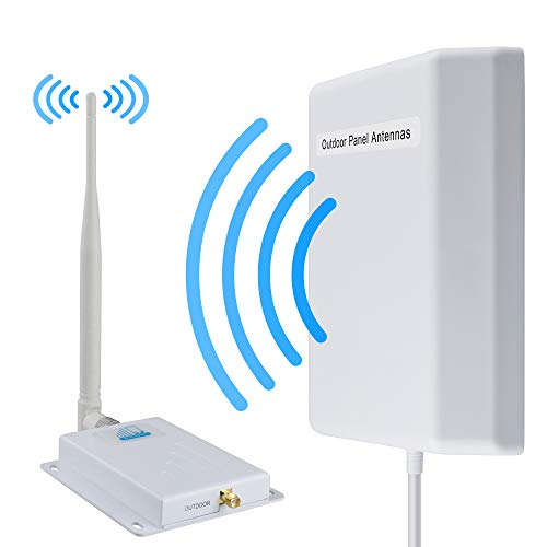 Signal Boosters ATT T-Mobile Cell Phone Signal Booster 4G LTE HJCINTL 700Mhz Band 12/17 Cell Phone Signal Amplifier Mobile Phone Signal Repeater Booster Kits for Home, Office