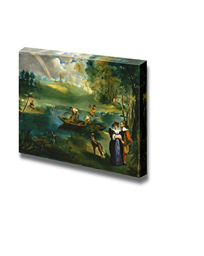 wall26 - Fishing by Edouard Manet - Canvas Print Wall Art Famous Painting Reproduction - 24