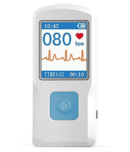 CONTEC PM10 ECG EKG Monitor Holter Electrocardiogram Heart Rate Beat LCD Monitor Free Software Bluetooth