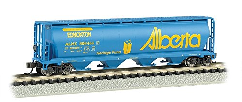Bachmann Industries Canadian 4-Bay Cylindrical Grain Hopper Alberta Train Car, N Scale