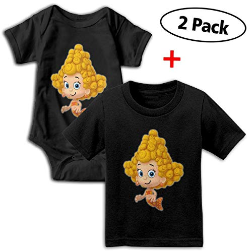 Bubble Guppies Babys Boy's & Girl's Short Sleeve Bodysuit Outfits And Tshirt