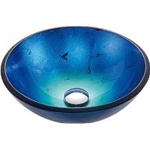 Kraus GV-204 Irruption Glass Vessel Sink (Blue)