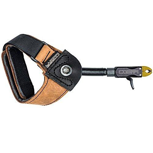 Cobra Pro Caliper Release with Leather Loop Lock, Black, (Cobra Archery Release)