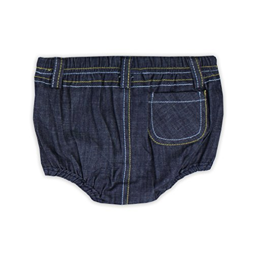 Stud Pocket Jean - Little Rugged Infant/Toddler Boys' Denim 1 Pocket Bloomer - Blue - 6-12m