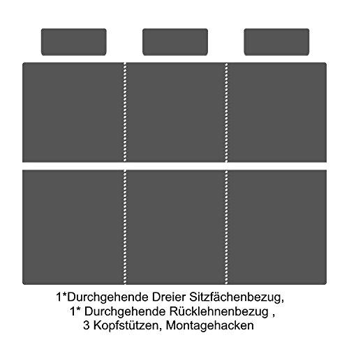 Blazusiak BD-TMDV12ST3S3-46 Housse de si/ège Haut de Gamme pour v/éhicule Mod/èle ajust/é