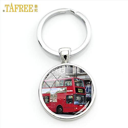 Amazon.com: Mct12-1 - Llavero con diseño de autobús rojos de ...