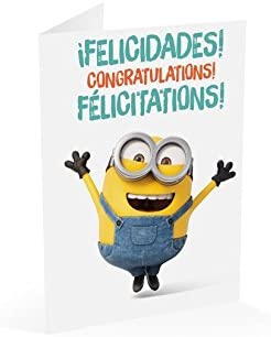 Grupo Erik/ /Carte Minions Felicidades Congratulations F/élicitations