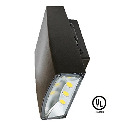 UL-Listed LED 50 Watt Exterior Commercial Wallpack Floodlight, 4000K Neutral White, 120V-277V, Comparable to 250-400W MH-HPS, 4000 Lumens, Cutoff Wall Mount, LEDrock Warranty Based in Denver, CO, USA