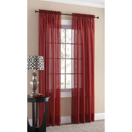 Mainstay Marjorie Sheer Voile Curtain Panel, 59