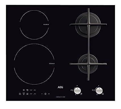 AEG - Piano cottura misto ad induzione e a gas HD 634170 NB ...