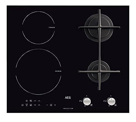 AEG - Piano cottura misto ad induzione e a gas HD 634170 NB finitura ...