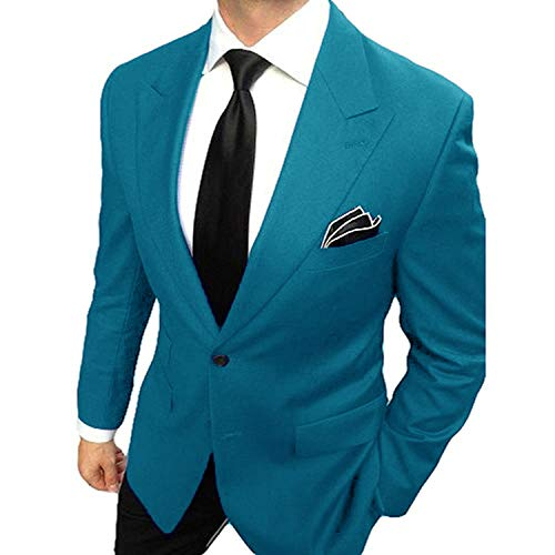 YSMO Men's 2 Piece Suits Casual Groom Tuexdos Jacket & Pants Wedding Blazer Summer -