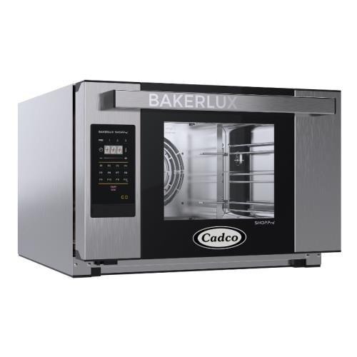 Cadco XAFT-03HS-GD Bakerlux GO Heavy-Duty Electric Countertop Convection Oven, (3) Half Size Sheet Pan Capacity