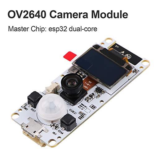 Price comparison product image MakerHawk ESP32 Camera Module T-Camera ESP32 WROVER PSRAM Camera Module 4MBytes SPRAM ESP32-WROVER-B OV2640 Camera Module with 0.96 Inch OLED-Fish-Eye Lens