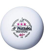 Nittaku Premium 3-sterren tafeltennisballen - wit (Pack van 3)