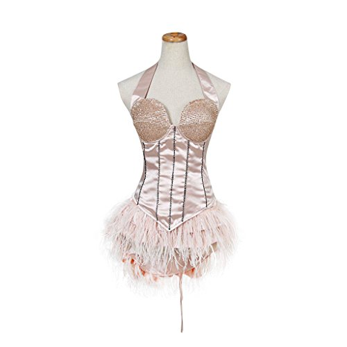 1791's lady Women Sexy Halloween Cosplay Costume Burlesque Christina Aguilera Dress (S:Height63-65