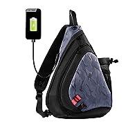 Sling Bag - Tinbrot Casual Chest Shoulder Backpack Crossbody Bag for Travel One Strap Backpack Hiking Daypack
