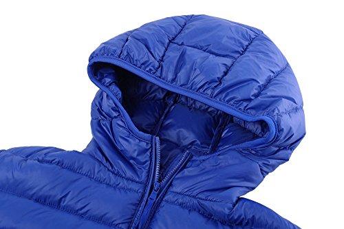 Blue Wantdo Jacket Hooded Coat Women's Outdoor Down Sapphire Down Lightweight Short fwfSvq6