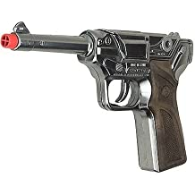 Toy LUGER German Style Cap Gun Semi-auto pistol metal prop costume 8 Shot Ring