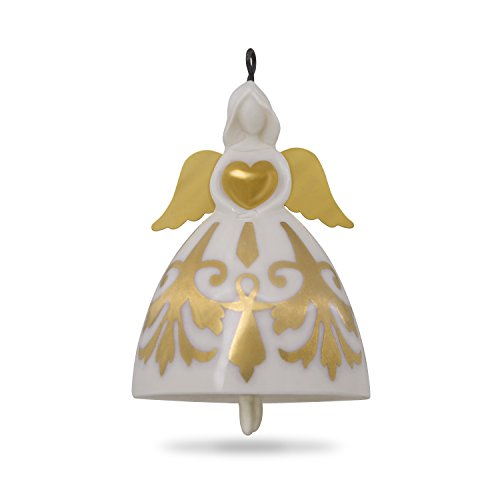 Glass Angel Bell Ornament - 5