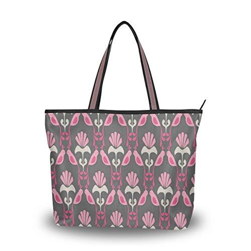 Women Tote Shoulder Bag Vintage Handbag Birds Of Paradise Top Handle Handbag Shoulder Bag Large Capacity