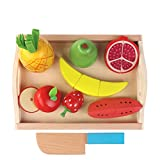 Huangyingui Wooden Cutting Toy Set Children's Educational Toys - Children's Kids Cutting Birthday Party Kitchen Food Simulation Toys, Role Playing Toys ( Color : 2 )