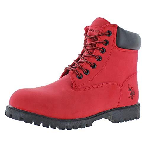 U.S. Polo Assn. Men's Owen Hi Boot,Red,10