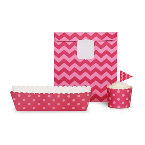 paper eskimo baking cups chevron - 6
