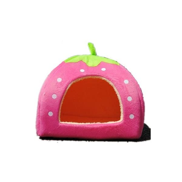 Sungpunet Strawberry Small Cotton Soft Dog Cat Pet Bed House S/m/l/XL (Pink, M) by Pet House Click on image for further info.