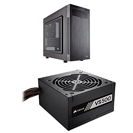 Corsair Carbide Series 88R MicroATX Mid-Tower Case and Corsair VS Series, VS500,